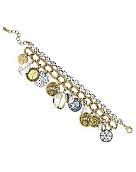 Mood Diamante Coin Charm Bracelet