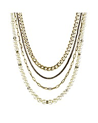 Mood Pearl Multi Row Necklace