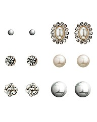 Mood Set Of Six Stud Earrings