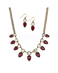 Mood Teardrop Crystal Jewellery Set
