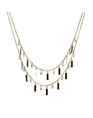 Mood Enamel Crystal Necklace