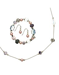 Mood Pastel Bead Trio Jewellery Set
