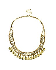 Mood Diamante Teardrop Collar Necklace