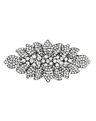 Mood Crystal Floral Hair Barrette