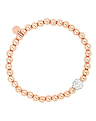 Simply Silver Rose Gold Bead Bracelet