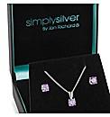 Simply Silver Cubic Zirconia Set