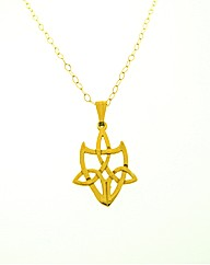 9ct Yellow Gold Shield Pendant