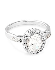 Simply Silver Oval Halo Ring