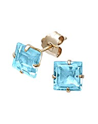 Yellow Gold 1.26 Carat Topaz Earrings