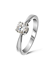 9ct White Gold 0.4Ct Diamond Ring