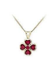 9ct Yellow Gold 0.4 Carat Garnet Pendant