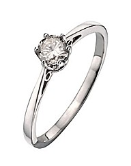 9ct White Gold 0.12Ct Diamond Ring