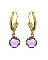 9ct Gold 0.01Ct Amethyst Earrings