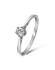 9ct White Gold 0.2Ct Diamond Ring