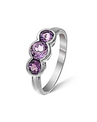 Sterling Silver 0.75Ct Amethyst Ring