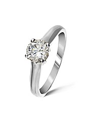 18ct White Gold 0.25 Carat Diamond Ring