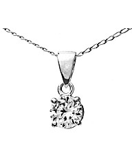 9ct White Gold 0.5Ct Diamond Pendant