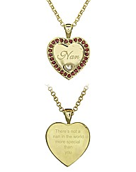 Gold Plated Nan Heart Pendant