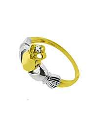 9ct Gold Diamond Claddagh Ring
