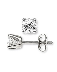 White Gold 0.5 Carat Diamond Earrings