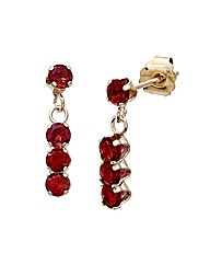 9ct Gold 0.8Ct Garnet Earrings