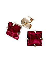 Yellow Gold 1.26 Carat Garnet Earrings
