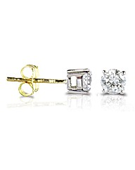 Yellow Gold 0.75 Carat Diamond Earrings