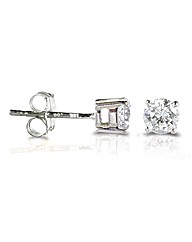 9ct White Gold 0.33Ct Diamond Earrings