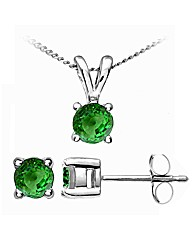 White Gold 0.32 Carat Tsavorite Earrings
