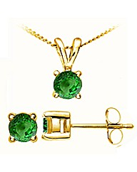 Yellow Gold 0.32 Carat Tsavorite Earring