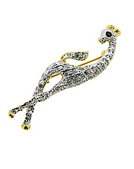 Crystal Set Giraffe Brooch