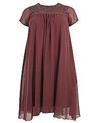 Koko Embellished Neck Swing Dress