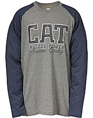 Caterpillar Rugged baseball T-Shirt