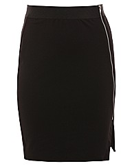 Threads Asymmetric Zip Front Skirt