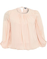 Samya Chiffon Top With Arm Detail
