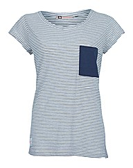 Ladies Navy Sailor Scoop Neck Tee
