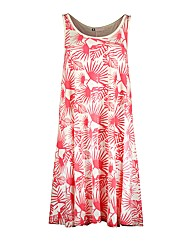 Ladies Pink Hibiscus Dress