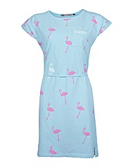 Ladies Blue Flamingo Dress