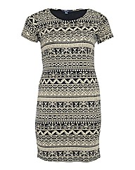 Samya Aztec Print Tube Bodycon Dress