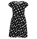 Praslin Heart Print Dress