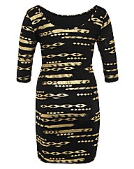 Koko Tribal Midi Dress