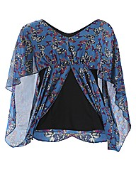 Koko Butterfly Waterfall Tunic