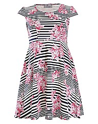 Praslin Stripe Floral Print Dress