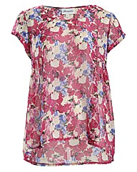Threads Floral Side Peplum Tee