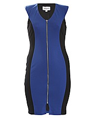 Threads Zip Front Bodycon Dress