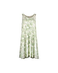 Ladies Hibiscus Dress Green