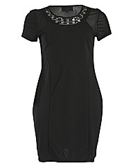 Praslin Embellished Neck Dress