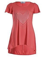 Praslin Heart Print T Shirt