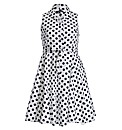 Samya Sleeveless Polka Dot Layered Dress