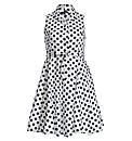 Samya Sleeveless Polka Dot Layered Dress